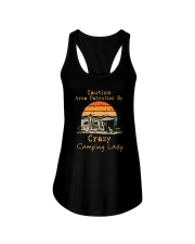 CAUTION AREA PATROLLED BY CRAZY CAMPING LADY Ladies Flowy Tank thumbnail