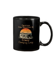 CAUTION AREA PATROLLED BY CRAZY CAMPING LADY Mug thumbnail