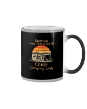 CAUTION AREA PATROLLED BY CRAZY CAMPING LADY Color Changing Mug thumbnail