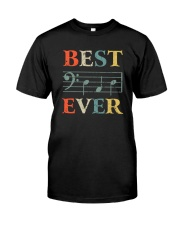 BEST MUSIC NOTES DAD EVER Classic T-Shirt front
