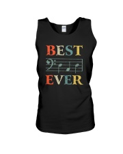 BEST MUSIC NOTES DAD EVER Unisex Tank thumbnail