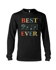 BEST MUSIC NOTES DAD EVER Long Sleeve Tee thumbnail