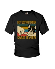 BEST BOSTON TERRIER DAD EVER Youth T-Shirt thumbnail
