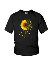 BE HAPPY WEED SUNFLOWER Youth T-Shirt thumbnail