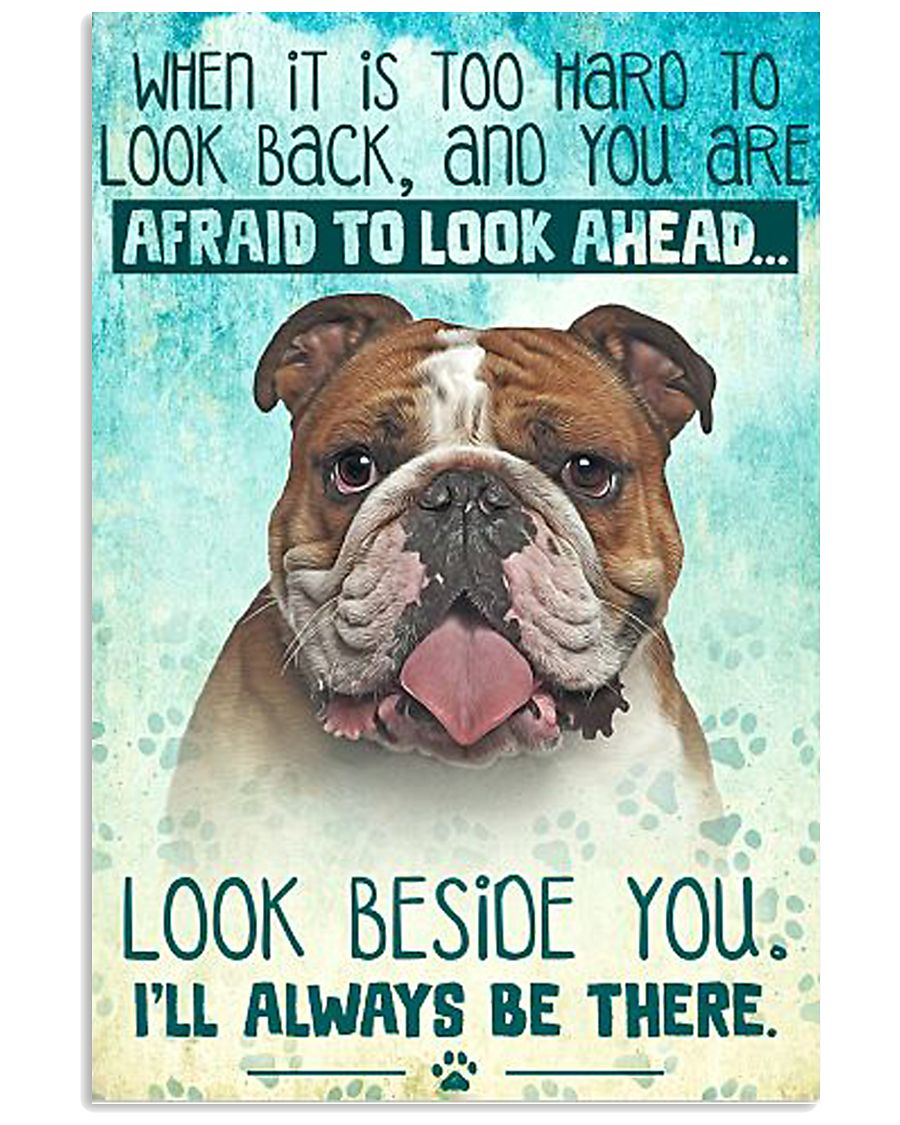 English Bulldog - Beside You Vertical Poster 11x17 Poster