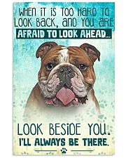 English Bulldog - Beside You Vertical Poster 11x17 Poster front