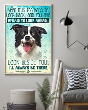 Border Collie - Beside You Vertical Poster 11x17 Poster lifestyle-poster-1