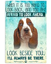 Basset Hound - Beside You Vertical Poster 11x17 Poster front