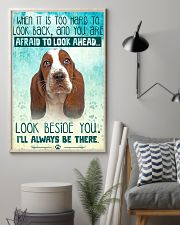 Basset Hound - Beside You Vertical Poster 11x17 Poster lifestyle-poster-1