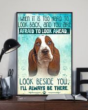 Basset Hound - Beside You Vertical Poster 11x17 Poster lifestyle-poster-2