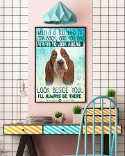Basset Hound - Beside You Vertical Poster 11x17 Poster lifestyle-poster-6