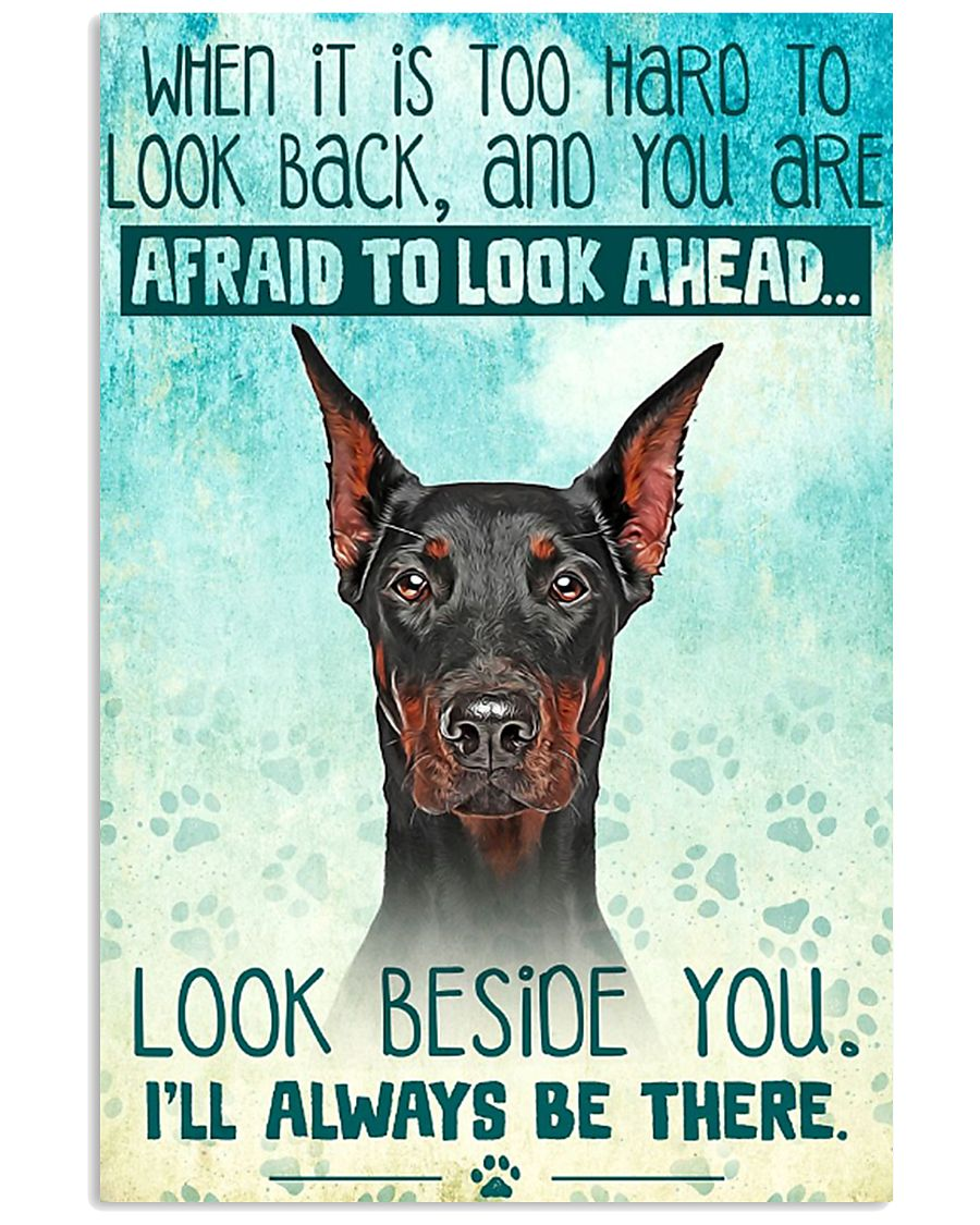 Doberman - Beside You Vertical Poster 11x17 Poster