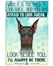 Doberman - Beside You Vertical Poster 11x17 Poster front