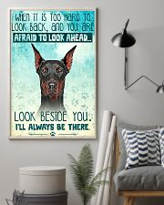 Doberman - Beside You Vertical Poster 11x17 Poster lifestyle-poster-1