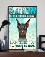 Doberman - Beside You Vertical Poster 11x17 Poster lifestyle-poster-2