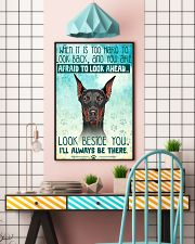 Doberman - Beside You Vertical Poster 11x17 Poster lifestyle-poster-6
