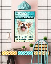 Corgi - Beside You Vertical Poster 11x17 Poster lifestyle-poster-6