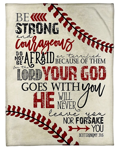 Baseball Funny Be Strong Not Afraid Graphic Design