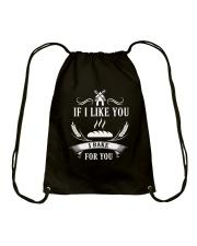 If I like you I bake for you Drawstring Bag thumbnail