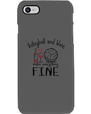 Volleyball And Wine Make Everything Fine Phone Case thumbnail
