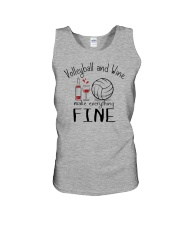 Volleyball And Wine Make Everything Fine Unisex Tank thumbnail
