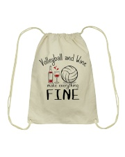 Volleyball And Wine Make Everything Fine Drawstring Bag thumbnail