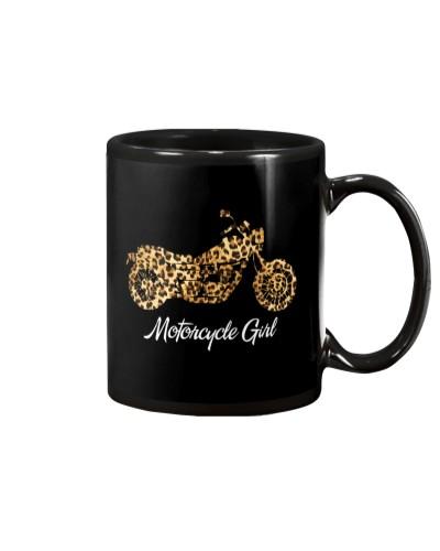 Motorcycle Girl Leopard