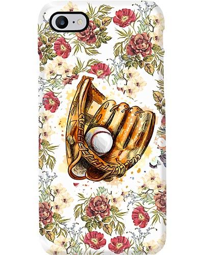 Baseball Flower Beauty Phonecase