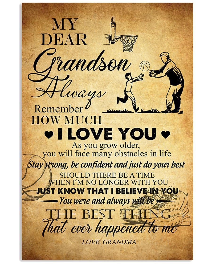 Basketball My Dear Grandson Love You 11x17 Poster