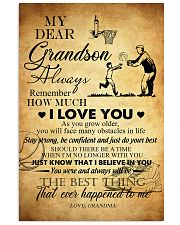 Basketball My Dear Grandson Love You 11x17 Poster front