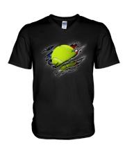 Tennis Inside Flag V-Neck T-Shirt thumbnail