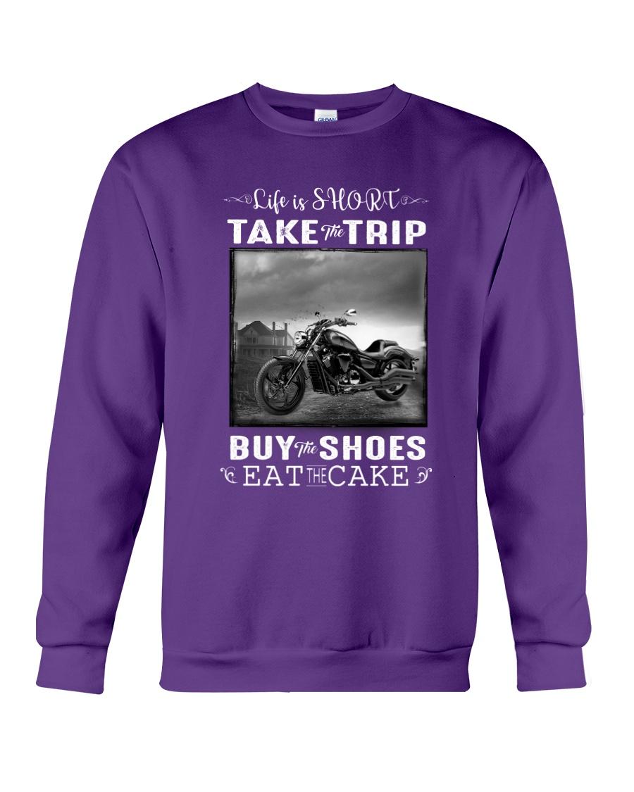 Motorcycle - Life Is Short - Take The Trip Crewneck Sweatshirt