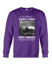 Motorcycle - Life Is Short - Take The Trip Crewneck Sweatshirt front