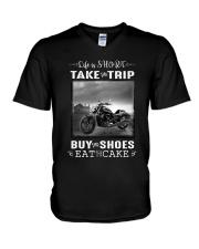Motorcycle - Life Is Short - Take The Trip V-Neck T-Shirt thumbnail
