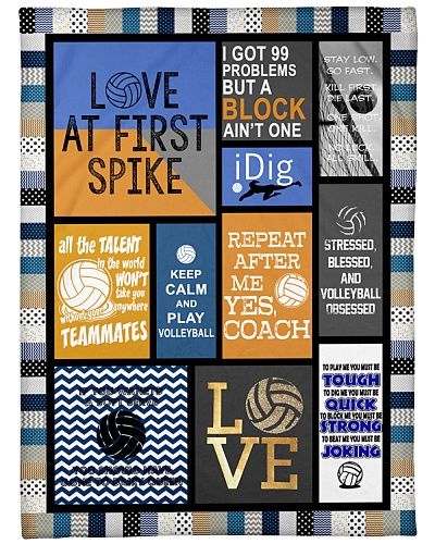 Volleyball Funny Love First Spike Graphic Design