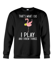 Tennis I Play And I Know Things Crewneck Sweatshirt tile