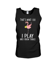Tennis I Play And I Know Things Unisex Tank thumbnail
