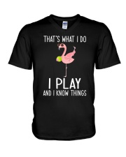 Tennis I Play And I Know Things V-Neck T-Shirt thumbnail