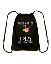 Tennis I Play And I Know Things Drawstring Bag tile