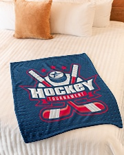 "Hockey Funny Blanket Tournament Graphic Design Small Fleece Blanket - 30"" x 40"" aos-coral-fleece-blanket-30x40-lifestyle-front-01"
