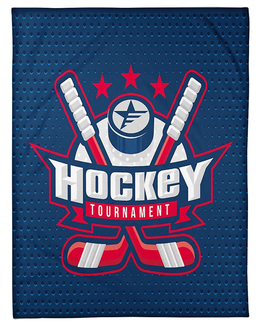 "Hockey Funny Blanket Tournament Graphic Design Small Fleece Blanket - 30"" x 40"""