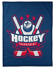 "Hockey Funny Blanket Tournament Graphic Design Small Fleece Blanket - 30"" x 40"" front"
