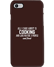 All I Care About Is Cooking Phone Case i-phone-7-case