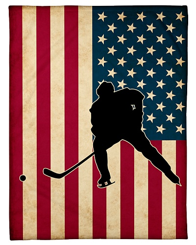 Hockey Funny Flag US Graphic Design