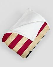 "Hockey Funny Flag US Graphic Design Large Fleece Blanket - 60"" x 80"" aos-coral-fleece-blanket-60x80-lifestyle-front-07"