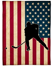 "Hockey Funny Flag US Graphic Design Large Fleece Blanket - 60"" x 80"" front"