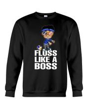 Volleyball Floss Like A Boss Crewneck Sweatshirt thumbnail