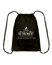 Surfing Retirement Drawstring Bag thumbnail