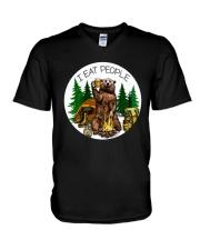 Hiking I Eat People V-Neck T-Shirt thumbnail