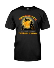 Motorcycle Biking Witch Classic T-Shirt front